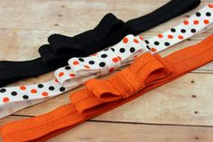 Halloween bow headbands - newborn/baby/toddler headband - baby bow headband set - headwraps on Etsy, $9.25