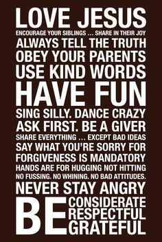 Family rules-I want this!