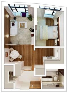 "Studio Apartment Vs 1 Bedroom 50 one ""1"" bedroom apartment/house plans 