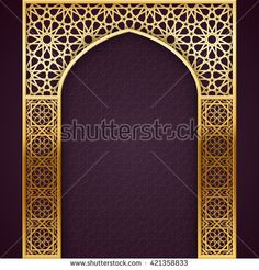 Ramadan Backgroud with Golden Arch, with golden arabic pattern, EPS 10 contains transparency Islamic Art Pattern, Arabic Pattern, Pattern Art, Moroccan Design, Moroccan Style, Moroccan Blue, Moroccan Decor, Gate Design, Door Design