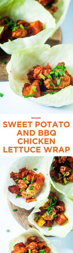 This dish can be made pretty easily by baking the sweet potatoes, cooking the onion and the chicken, tossing it into BBQ sauce, and finally, wrapping it into lettuce. Doesn�t that sound easy?