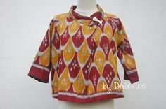 ikat top | Wiji Dadi Coklat Outer | DhieVine | Redefine You