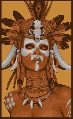 african witch doctor drawing - Google Search