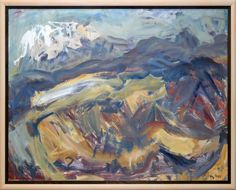 """Woollaston-""""Mt Arthur in Winter"""" Abstract Landscape, Landscape Paintings, Landscapes, Jake And Dinos Chapman, Tossed, New Zealand, Folk, Gallery, Modernism"""