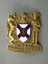 Birks Gold Filled Enameled Nova Scotia Public Health Nurse Pin Brooch Nursing