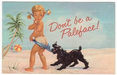 Vintage Coppertone Suntan Ad - everyone thought this was my daughter!
