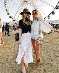 Xenia Overdose Michelle Take Aim at Coachella Cute Spring Outfits, Cute Outfits, Bff, Besties, Boho Chic, Festival Girls, Music Festival Fashion, Warm Weather Outfits, Kinds Of Clothes
