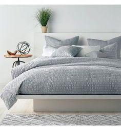 Master bedroom, gay and white, #modern #farmhouse #rustic side table #duvet #minimal #bedroom #sheets #kingsizebed covers, #houseplant #platformbed #blankets #masterbedroom #afflink #ss