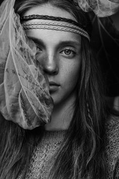 www.magdalenahalas.pl  #bw #freckles #girl #woman #boho #piegi #portrait #blackandwhite #photography #poland