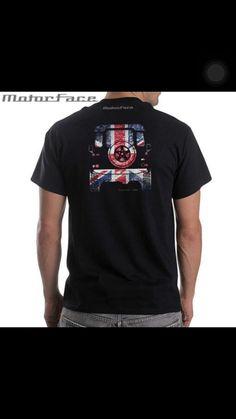 Black Tshirt  -  Back View  -  UK Flag