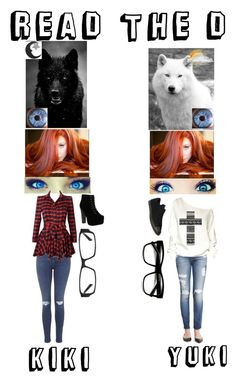 """""""Book - Yuki and Kiki READ THE D!"""" by thatonegamer ❤ liked on Polyvore featuring Jewel Exclusive, Topshop, 7 For All Mankind, Delicacy and Converse"""