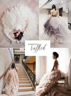 ruffled wedding gowns