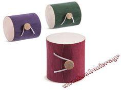 Κουτί ξύλινο κύλινδρος για μπομπονιέρα βάπτισης και γάμου