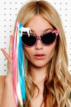 Spangled Disco Pony Sunglasses. C'MON!