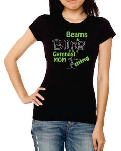 Gymnastics mom Gymnastics shirt Gymnastics tshirt by TShirtNerds, $28.00