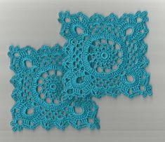 "2 Crochet Doilies Small Lace Parakeet 5"""