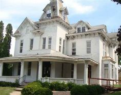 """This is not """"for the home"""" so much as my dream home! I must live in an old house I can fix up. I the big rooms and the woodwork. It may just be worth moving to IA for! Big Houses, Dream Houses, Old House Dreams, Victorian Homes, Abandoned Places, My Dream Home, Ottumwa Iowa, My House, Building A House"""