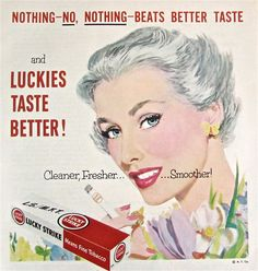 1960s Vintage Ad LUCKY STRIKE