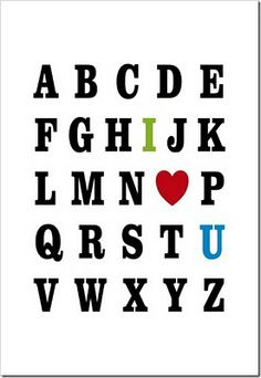 how cute is this valentine alphabet printable