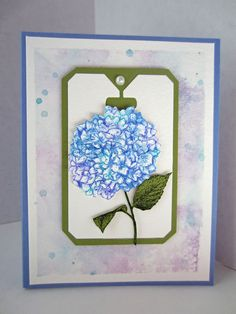 Paper Seedlings: BLUE HYDRANGEA