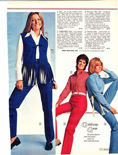 fashions+of+the+1970s+for+women | 1970s Women's Fashion Ads from Catalogs, 1970-1974