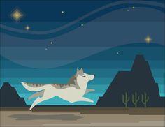 Wolf Spirit by KammysOneOfAKind on Etsy, $40.00