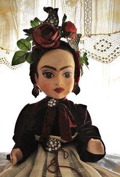 as seen in Art Doll Quarterly - her name is Frida // Frida Kahlo papier mache art doll  - ooak / art doll on Etsy, $4,000.00