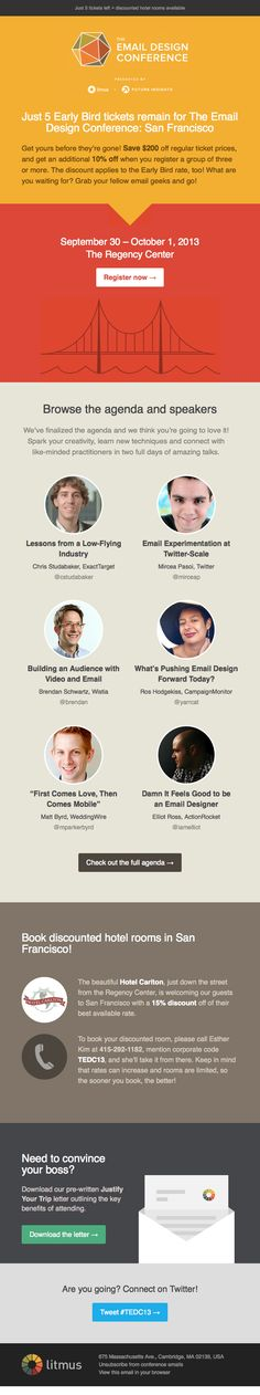 Litmus email newsletter design, responsive, email conference