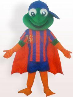 $325,66Gros yeux grenouille avec manteau court peluche mascotte Costume adulte < #br #/ #>