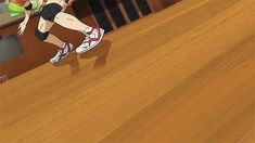 Day 27- Most badass scene from any anime character. Nishinoya's foot save, Haikyuu. And don't you dare tell me this wasn't badass and worthy of all the worlds cheers! Go Nishinoya!