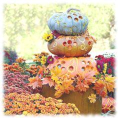 Fancy Halloween pumpkins