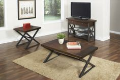 Found it at Wayfair - Crossing Coffee Table Set Largo Furniture, Metal Beds, Electric Fireplace, Home Furnishings, Bedroom Furniture, Upholstery, Contemporary, Living Room, Table