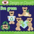 Designs on Cloud 9 Live Green SVG and cutting files