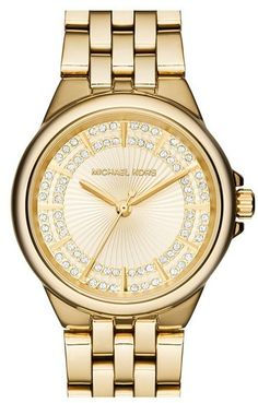 MICHAEL Michael Kors Michael Kors 'Slim Camille' Crystal Dial Bracelet Watch, 33mm (Nordstrom Exclusive)