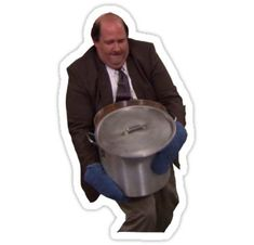 'Kevin Spills his Chili The Office' Sticker by panorarnic Meme Stickers, Snapchat Stickers, Tumblr Stickers, Office Wallpaper, Wallpaper Iphone Cute, Cute Wallpapers, Kevin The Office, The Office Show, The Office Stickers