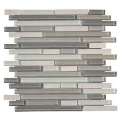 Jeffrey Court Frozen Pond 12 in. x 12 in. x 6mm Glass/Stone Mosaic Wall Tile-99453 at The Home Depot
