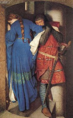 "I've always loved this painting of forbidden love. It's ""The Meeting on the Turret Stairs"" by Frederick William Burton."