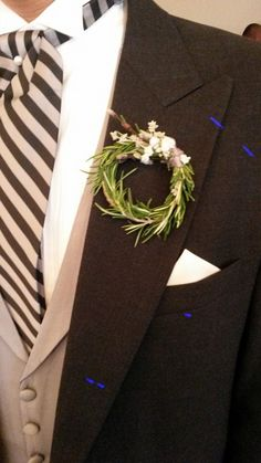 rosemary wreath boutonniere