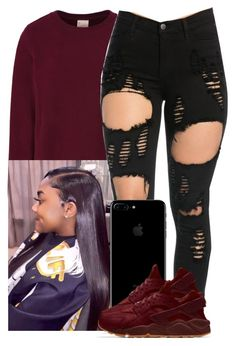 """"""""""" by xtiairax ❤ liked on Polyvore featuring Champion"""