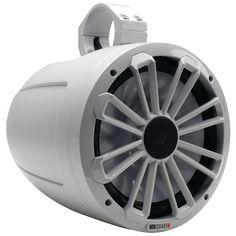 """MB Quart NT1-120 Nautic Series 2-Way Wake Tower Speaker with Dove Gray Finish & Mounting Hardware (8"""", 140 Watts, No Illumination)"""