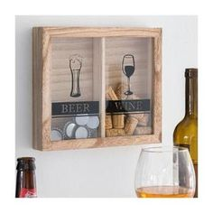 Cadre pour capsules de bière et bouchons de vin deco bar Wine Wall Decor, Oh My Home, Wine And Beer, Home Photo, House In The Woods, Decoration, Beer Bottle, Wine Rack, Storage