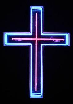 neon cross sign?! i can't help but want to own it!