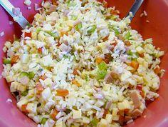Bunter Reissalat, ein schmackhaftes Rezept aus der Kategorie Eier & Käse. Bewertungen: 5. Durchschnitt: Ø 3,6.