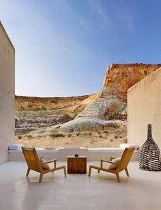 The Amangiri hotel, located in the region known as the Four corners, where Utah, Colorado, New Mexico, and Arizona meet.