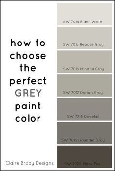 How To Choose The Perfect Grey Paint Color Colors House