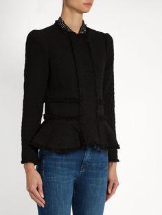 Peplum tweed jacket   Rebecca Taylor   MATCHESFASHION.COM US