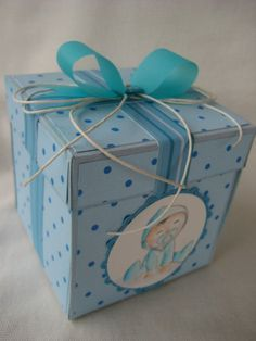 battesimo New Baby Cards, Exploding Boxes, Diy Desk, Little Boxes, Diy Box, Big Shot, Kids Cards, New Baby Products, Baby Kids