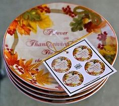 222 Fifth Autumn Celebration Appetizer Bread Plates Set of 4 ...