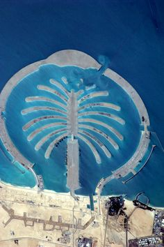 The Palm, Jebel Ali, Dubai, UAE. This artificial island is visible from space