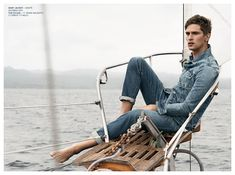 Mathias Lauridsen is Cool in Mens Denim Styles for AG Jeans Spring 2015 Campaign